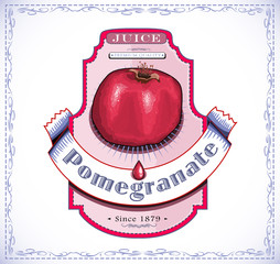 Pomegranate juice and food label