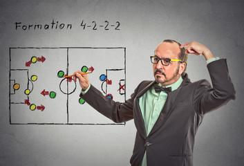 businessman thinking planning on next business plan startegy