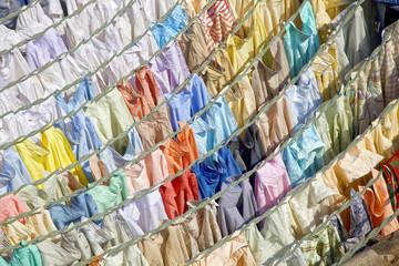 Laundry at Dhobi Ghats central laundry, Mumbai, India.