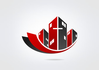 Logo Building Church Modren Business icon Church