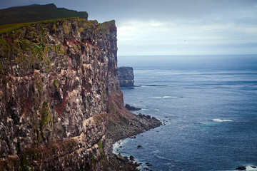 Beautiful vibrant view of the edge of the world, westernmost poi