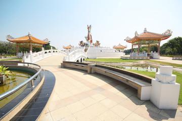Golden Dragon Statue, NaKhon Sawan Park