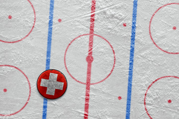 Swiss hockey puck on the site
