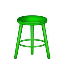 Retro stool in green design