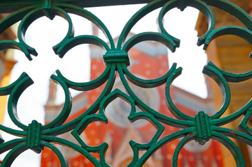 Church and ornate gates