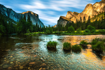 Aluminium Prints Natural Park Valley View Yosemite