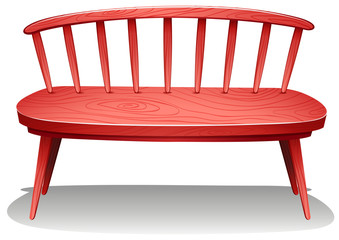 A red wooden furniture