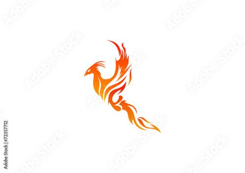 Logo Fire Business Phoenix Symbol Energy Power Icon Bird Stock