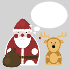 Santa Claus and Deer. New Year