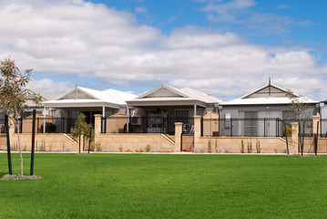 New Australian houses in a modern suburb