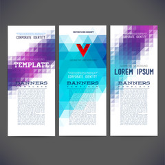 Set corporate identity kit with artistic,vector template