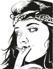 girl smoke cigarette