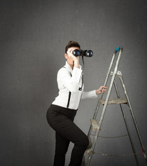 business woman forecasting future concept