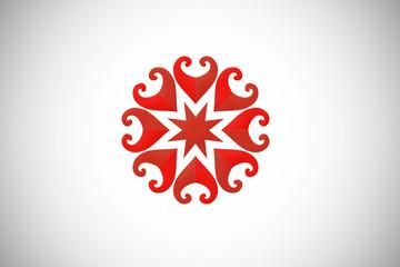 love circle decorative logo vector