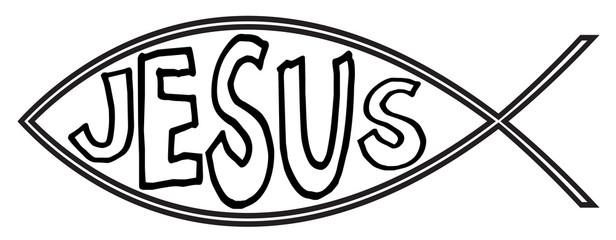 Christian Fish With Jesus