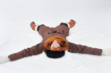 Winter fun - snow angel