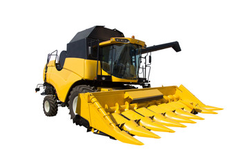 Wall Mural - Yellow agricultural harvester