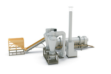 Equipment, the mechanism on white background