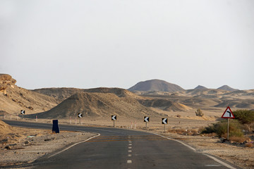 road in desert landscape