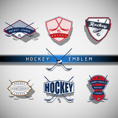 Ice Hockey emblem - color
