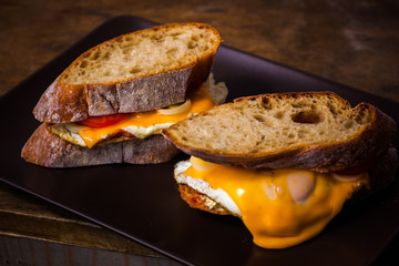 Sandwiches with Melted Cheddar