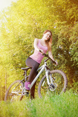 pretty girl biking