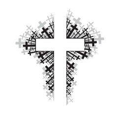 abstract illustration of religious cross