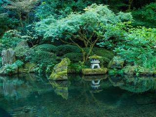 A Lantern in the Portland Japanese Garden