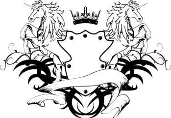 heraldic horse unicorn coat of arms crest3