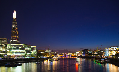Night City view and river Thames