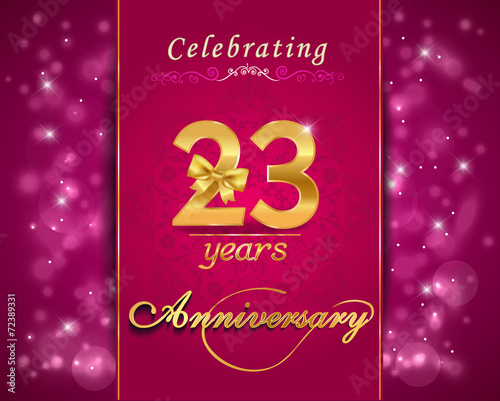 "28th Wedding Anniversary Gift: ""23 Year Anniversary Golden Label, 23rd Anniversary Card"