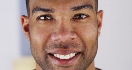 Close up of happy black man