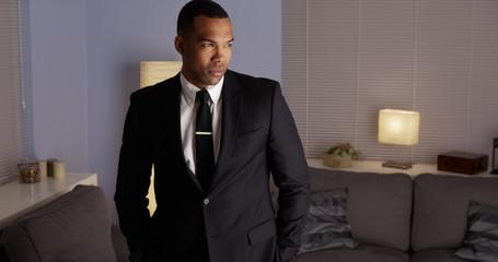 Handsome black man wearing a suit