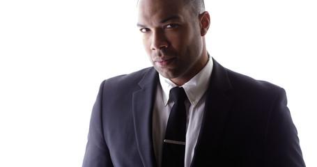 Handsome black man wearing suit