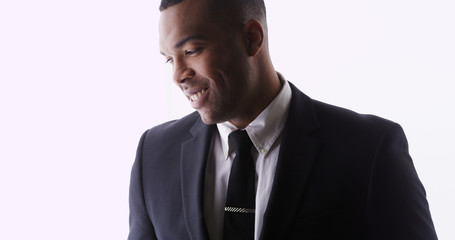 Attractive African man wearing suit