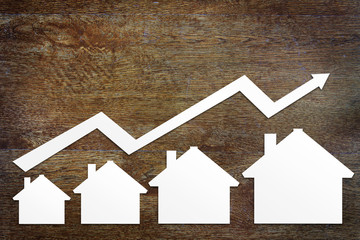 Concept of real estate sales growth