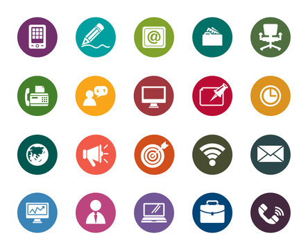 Business and Communication Color Icons