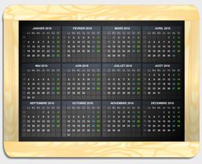 calendrier 2016 ardoise