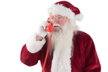Santa on his red phone