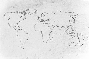 Foto op Plexiglas Wereldkaart world map design: go global
