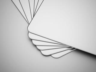 Silver abstract card concept