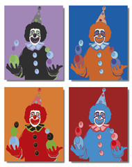 Clown jongleur pop