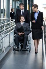 Businessman on a wheelchair