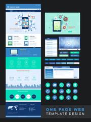 modern technology one page website design