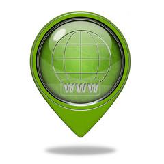 www pointer icon on white background