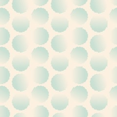 Vector fabric circles abstract seamless pattern