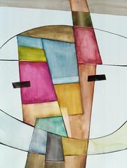 Abstrakcyjna akwarela