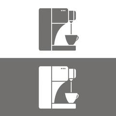Icono cafetera moderna BN
