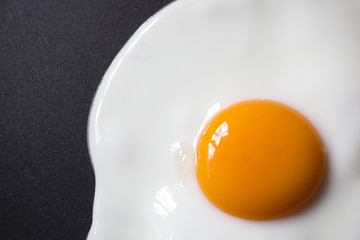 Photo sur Toile Ouf close up Fried egg on frying pan