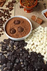 cioccolato preparazione di tartufi con cacao
